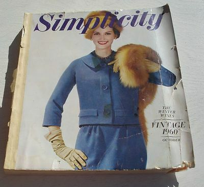 Vintage Lg Simplicity Sewing Pattern Book Catalog October Winter 1960