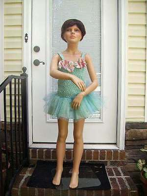 Vintage Young Girl Child Mannequin Made In Italy/store Display Mannequin