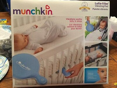 Lot Of 3 New Munchkin Lulla-Vibe Vibrating Mattress Pad Baby Bed Crib