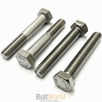 "Stainless A2 1/2"" 7/16"" 5/16"" 3/8"" Unf Fully Threaded Screws Part Threaded Bolts"