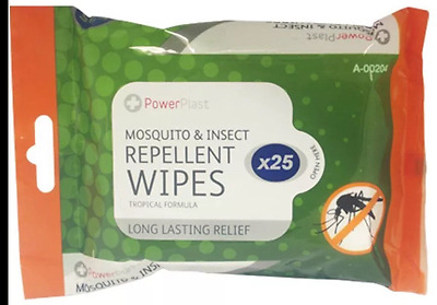 50 X Mosquito & Insect Repellent Wipes Tropical Formula 30% Deet