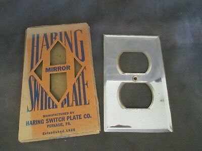 HARING Switch Plate Co - Mirror Outlet Covers NOS ks3