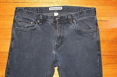 COUNTRY ROAD Mens Dark Denim Jeans - Size W34-L34 Slim Fit