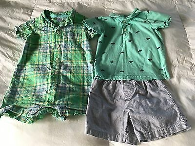 LOT OF 2 Carters Boys SIZE 24 Mos 2T Boys Outfits ~ LOT OF 2 ~ VGUC!