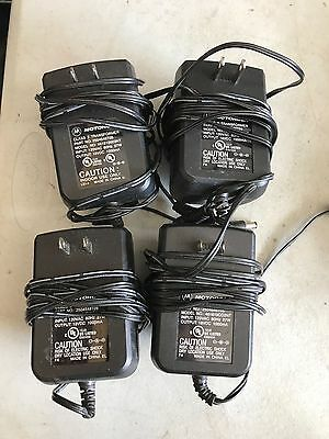 FOUR (4) Motorola Battery Charger Power Supply 481810OO3NT Portable Radio
