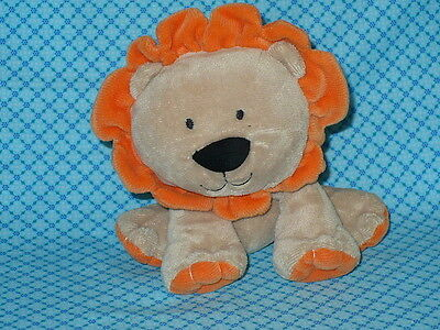"CARTER'S Just One Year Tan & Orange LION BABY Plush Stuffed Animal LOVEY 7"" tall"