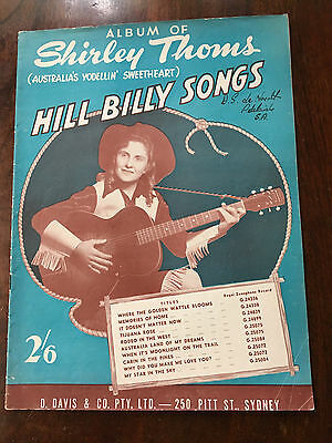 SHIRLEY THOMS - Album of Hillbilly Songs Sheet Music Book