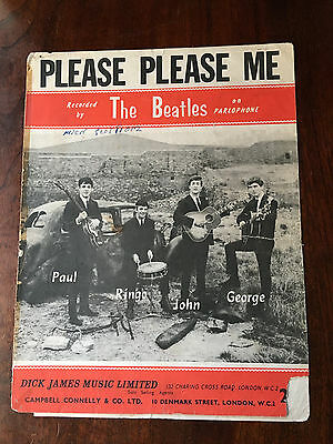 THE BEATLES - Please Please Me. UK Sheet Music