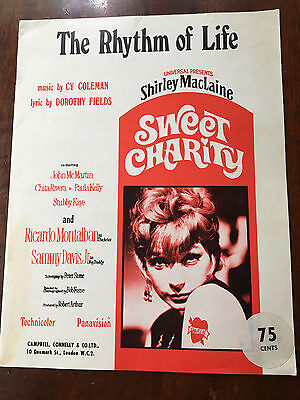 SHIRLEY MACLAINE - The Rhythm Of Life. UK Sheet Music