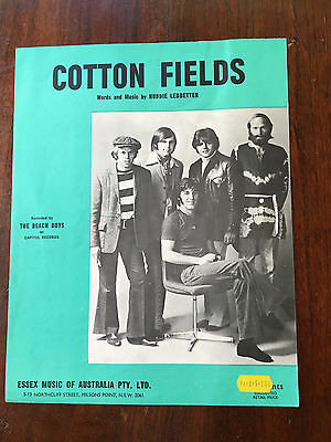 THE BEACH BOYS - Cotton Fields. Australian Sheet Music