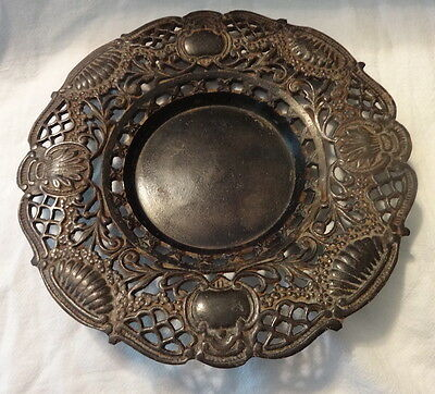Antique Victorian Bronze German Trivet & Platter
