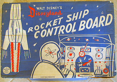 DISNEYLAND ROCKET SHIP CONTROL BOARD toy. Vintage 1950s! HTF! Rare! Tomorrowland