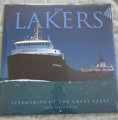 Vintage 2004 Steamships of The Great Lakes Sealed Calendar-Fantastic Lithographs
