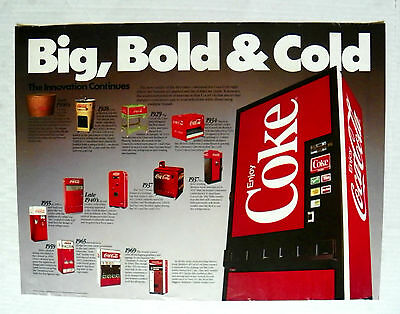 "1980"" ""coca Cola ~ Big, Bold & Cold"" History Of Bottle Vending Machines Poster"
