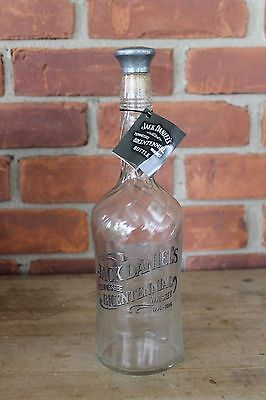 1996 Jack Daniels Bicentennial Whiskey Bottle Decanter with Metal Topper
