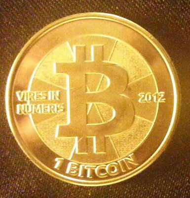 Authentic Rare 1 BTC Casascius Physical Brass BIT COIN 2012 Used Unloaded