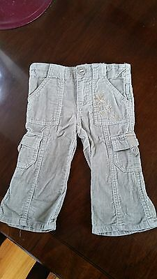 Baby Girl Cord pants bottoms size 6-12 months 0 1