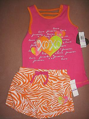 Nwt ~ Girl's Size 6 ~ 2-Piece Summer Knit Shorts Set, Outfit ~ Cute!
