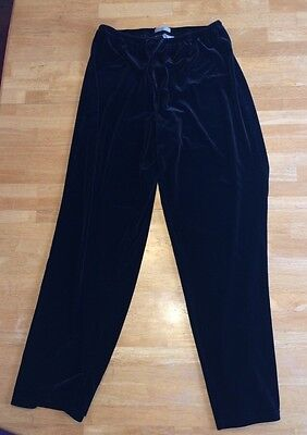 Old Navy Black Velvet Like Pajama Pants Size Medium