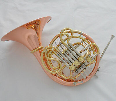 2018 Newest Professional Rose Brass Double French Horn F/Bb 4 Key with case