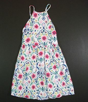 ABERCROMBIE KIDS white pink yellow blue floral sundress DRESS girls 3 4