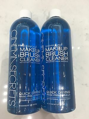 Cinema Secrets MakeUp Brush Cleanser 16oz (2 PACK) Free 2-Day Shipping!