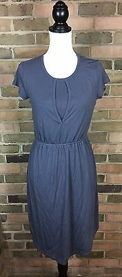 MILK Nursingwear Jersey Stretch Dress Charcoal Gray Short Sleeve SZ Small NWT!