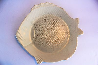 Vintage Chicken of the Sea Tuna Plate Made in California White Fish Scales Fins