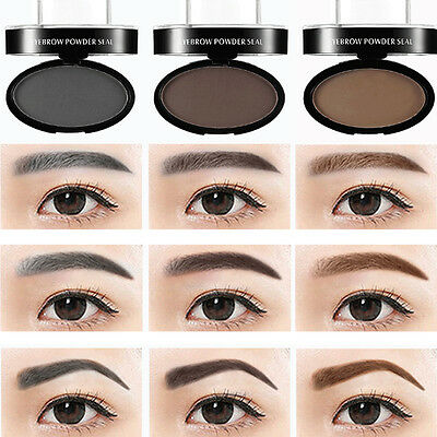 UK Eyebrow Powder Makeup Brow Stamp Palette Shadow Definition Delicated