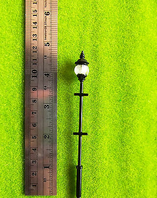 YMY1-17   O  1:48   4pcs  Scale Train Railway Lampposts Model Street Lights LEDs