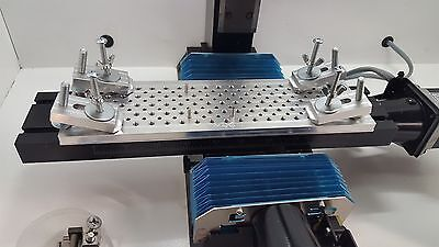 """10.5"""" x 3"""" tooling plate with quick clamps for sherline mill"""