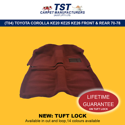 Moulded Car Carpets (T04) Toyota Corolla Ke20 Ke25 Ke26 Front & Rear 70-78