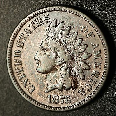 1876 INDIAN HEAD CENT With LIBERTY - Near VF VERY FINE