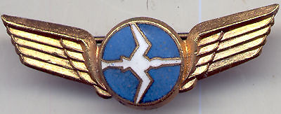 1960's PILOTS WING Lapel Badge N.A.C. National Airways Corp. of NEW ZEALAND