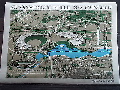 BF 4 timbres neuf Allemagne 1972 : Jeux Olympiques de Munich 72