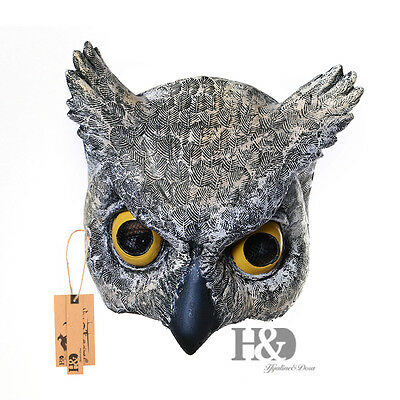 Cosplay Halloween Half Face Owl Mask Latex Animal ZOO Party Costume Prop Toys