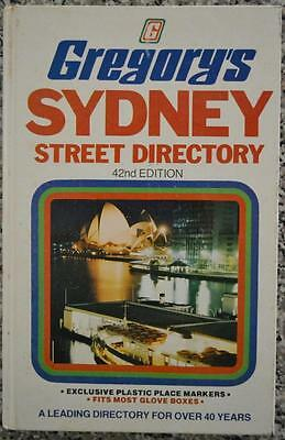 GREGORY'S 42nd EDITION SYDNEY STREET DIRECTORY 1977