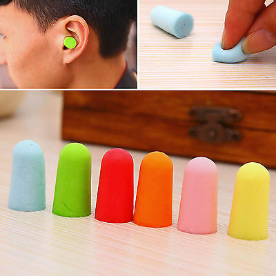 10 20 50 Pairs Sleep Prevention Noise Ear Plugs Tapered Soft Foam Multi Color
