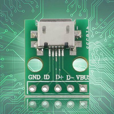 MICRO USB to DIP Adapter 5pin Female Connector B Type PCB Converter BA