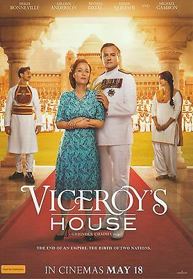 Promotional Movie Sheet - VICEROY'S HOUSE (2017) ***Gillian Anderson***