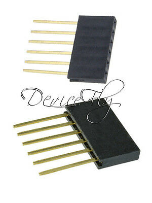 10/50/100PCS 6 Pin 2.54 mm Stackable Long Legs Femal Header For Arduino Shield