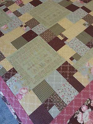 "UNFINISHED QUILT-TOP ONLY MEASURING 66"" x 70"""