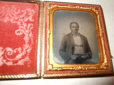African American 1/6 Plate  Ambrotype - Full Case