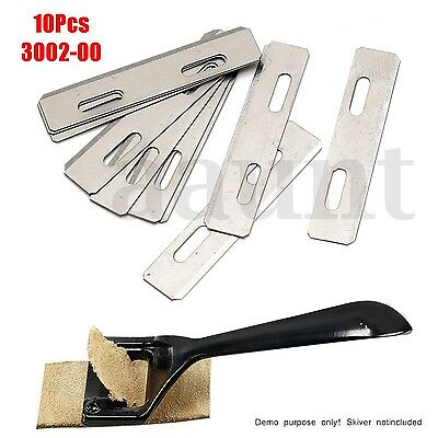 10Pcs Stainless Steel Replacement Blade for Skiver Safety Leather Lace Tool 38mm