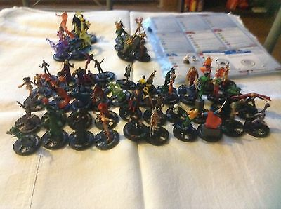 Over 50 Different Dc Heroclix miniatures Most From Dc75th Flash, Batman