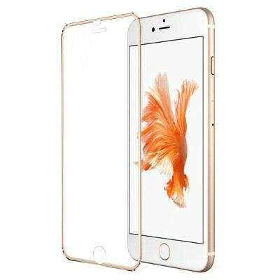 iProtect Curved Hardglas with metal frame for Apple iPhone 7 -  gold