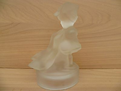 Vintage Old Decorative Center Piece 'girl' Old Glass Figure (E768)