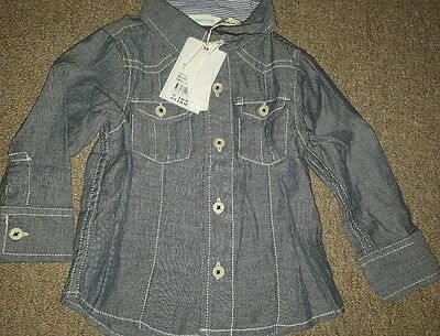 @@ Country Road Brand Baby Boy Shirt Size 6-12 Months - Brand New @@