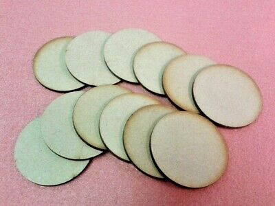 Pack of 50 Laser Cut 2 3 4mm Thick MDF Wooden Circles Discs Various Sizes Choose