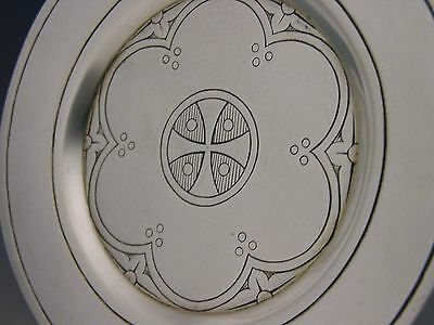 Beautiful Victorian Sterling Silver Holy Communion Paten Dish 1892 Antique